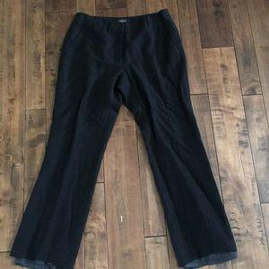 Talbots Black Linen Trousers